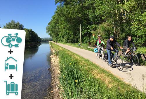 En Bourgogne, le long des canaux à vélo électrique - 1