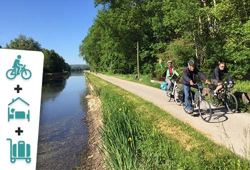 En Bourgogne, le long des canaux à vélo